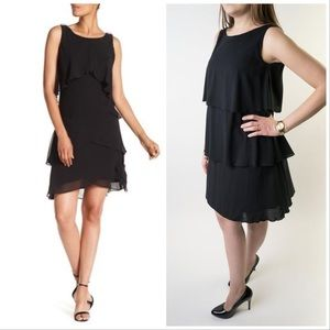 Jones New York tiered black dress size 12